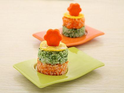多彩米饭团