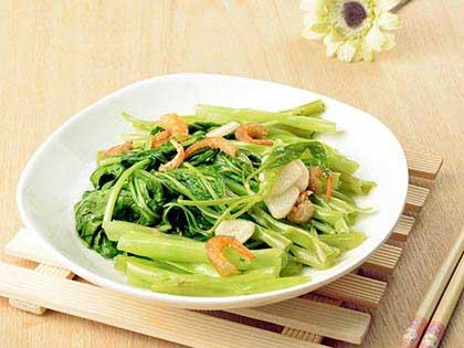 虾米空心菜