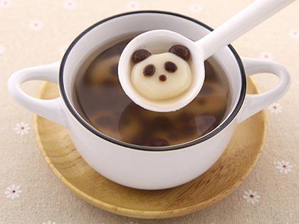 小熊猫红豆汤圆