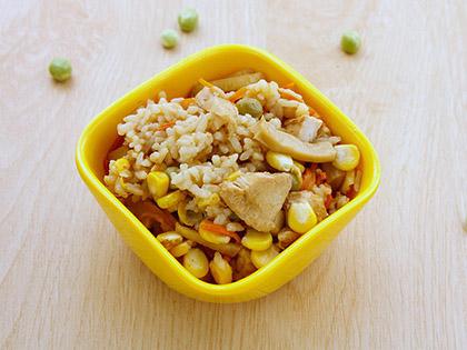 杏鲍菇蒸米饭