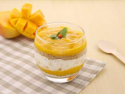 芒果木糠蛋糕杯