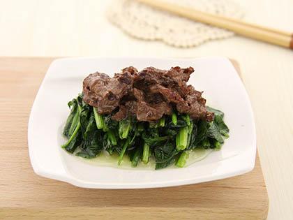 菠菜炒牛肉