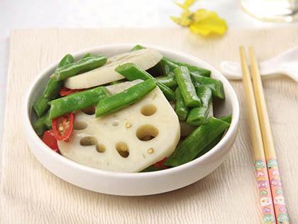 莲藕清炒四季豆