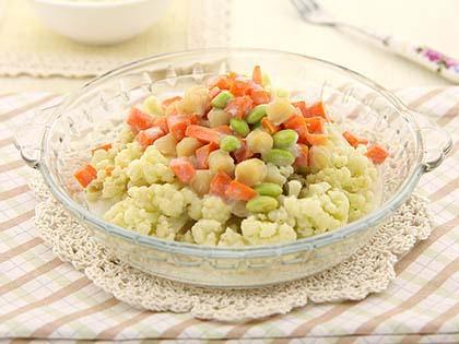 奶香鲜贝烩菜花