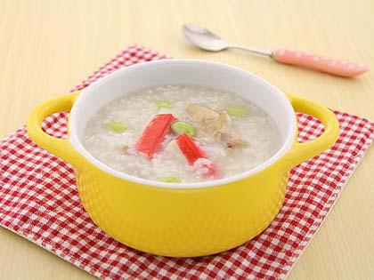 排骨蟹柳粥