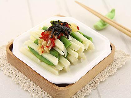 四季豆拌鲜笋