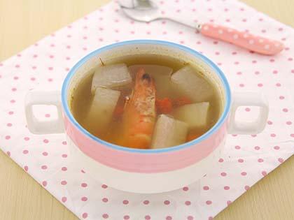 基围虾萝卜汤