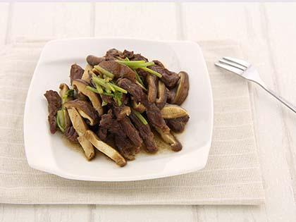 菌香蚝油牛柳