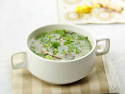 油菜香菇粥