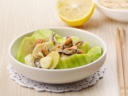 丝瓜炒淡菜