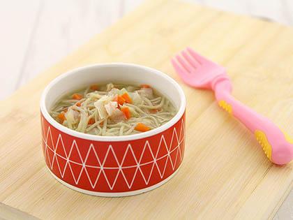 杂蔬面线汤