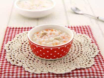 胡萝卜鲳鱼软饭