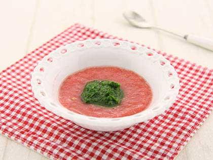 西红柿油菜泥