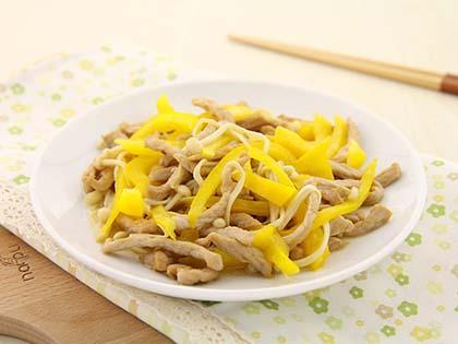 金针菇彩椒炒肉丝