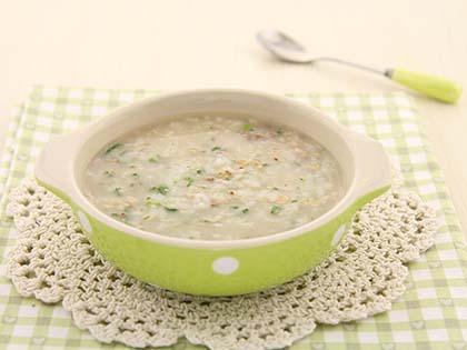 油菜猪肝燕麦粥