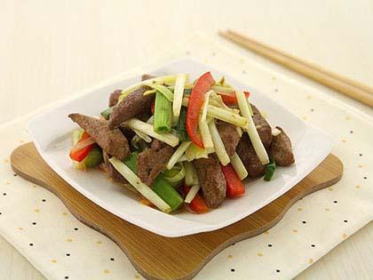 韭黄猪肝丝
