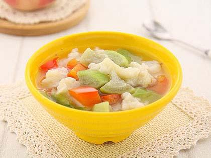 丝瓜面疙瘩汤
