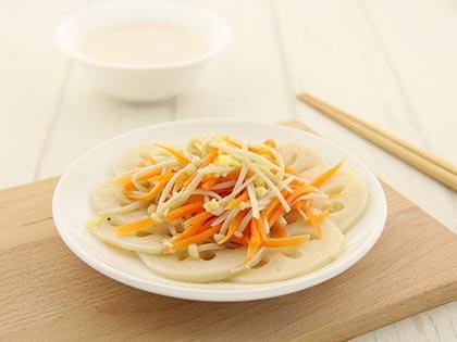 金针菇拌藕片