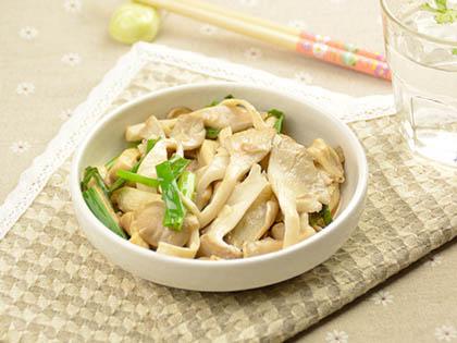 蒜香素炒平菇