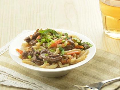 蚝油牛肉炒米线
