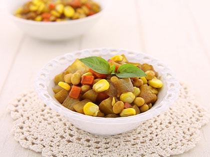 黄金咖喱什锦豆