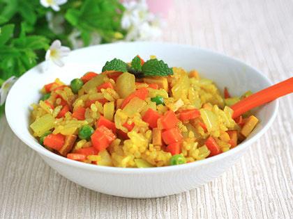 咖喱杂粮菜饭