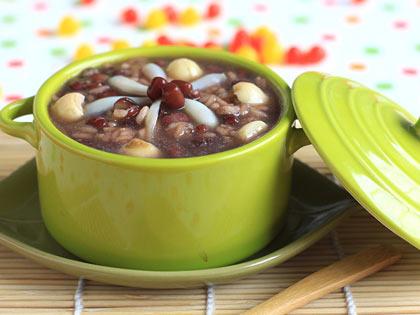 莲子百合红豆粥