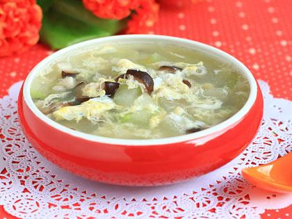 鲜蘑冬瓜蛋汤