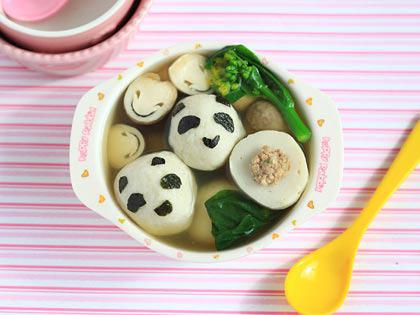 宝贝熊猫包心鱼丸