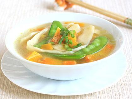 南瓜甜豆面片汤