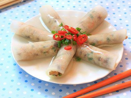三鲜萝卜卷