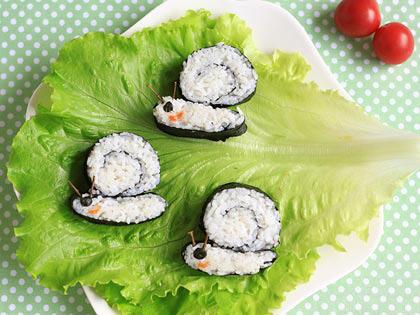 可爱蜗牛寿司