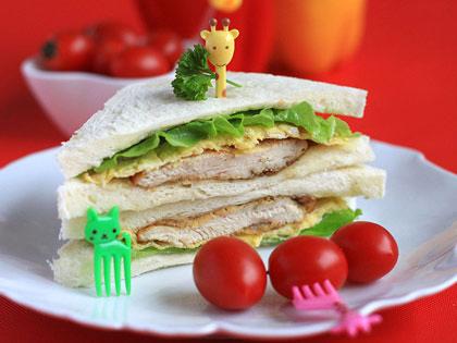 鸡排三明治