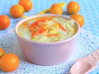 胡萝卜酸奶粥