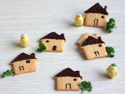 巧克力房子造型饼干