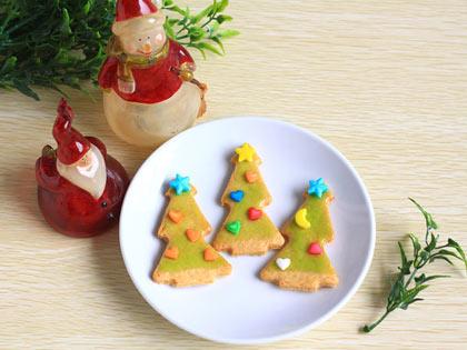 圣诞树造型饼干