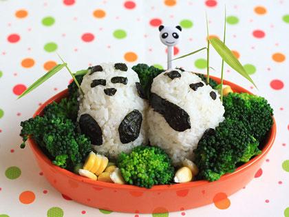 熊猫肉松饭团