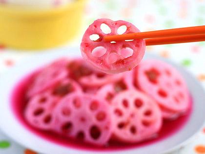 紫甘蓝话梅糖渍藕片