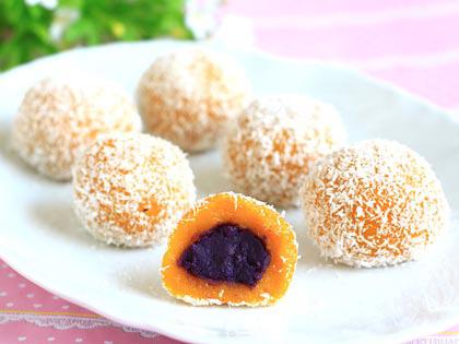 椰香南瓜紫薯糯米滋