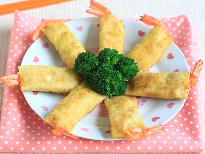 豆腐鲜虾春卷