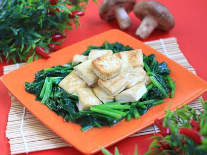 菠菜煎豆腐