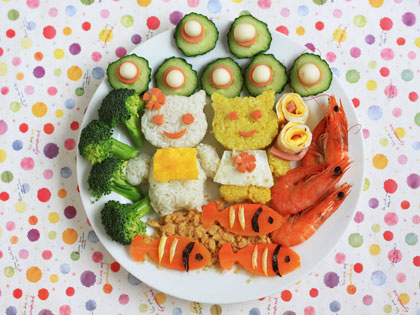 可爱的小熊饭团