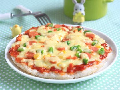 米饭香肠小披萨
