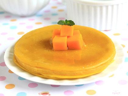 牛奶香芒蛋饼
