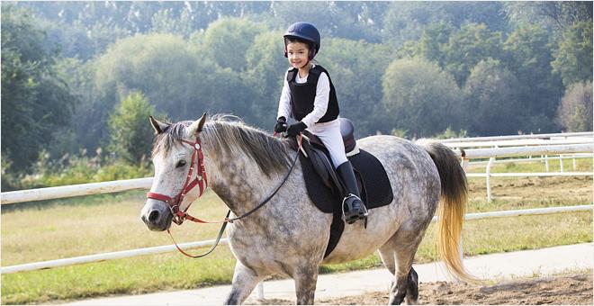 帅气萌宝の骑马初体验