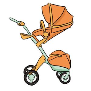 有婴儿车妈妈就不用一直抱着宝宝
